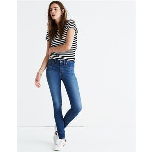 "madewell tall 9"" high rise patty wash skinny jeans"